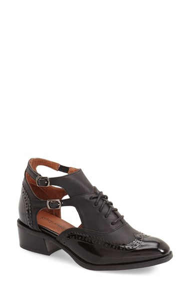 Lyst Jeffrey Campbell Delaney Cutout Oxford In Black
