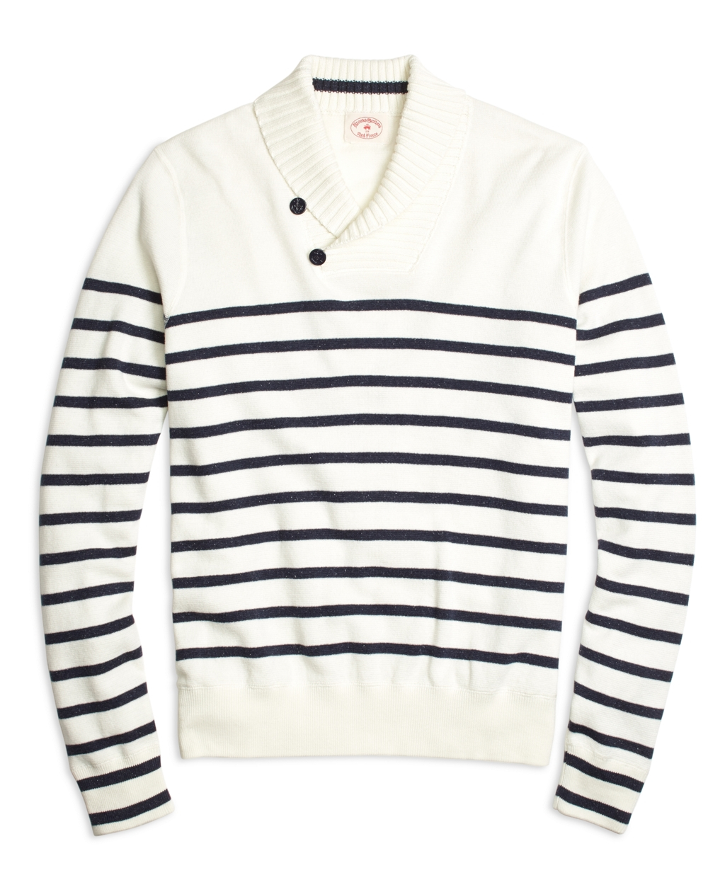 Lyst Brooks Brothers Nautical Stripe Shawl Collar Sweater In Blue