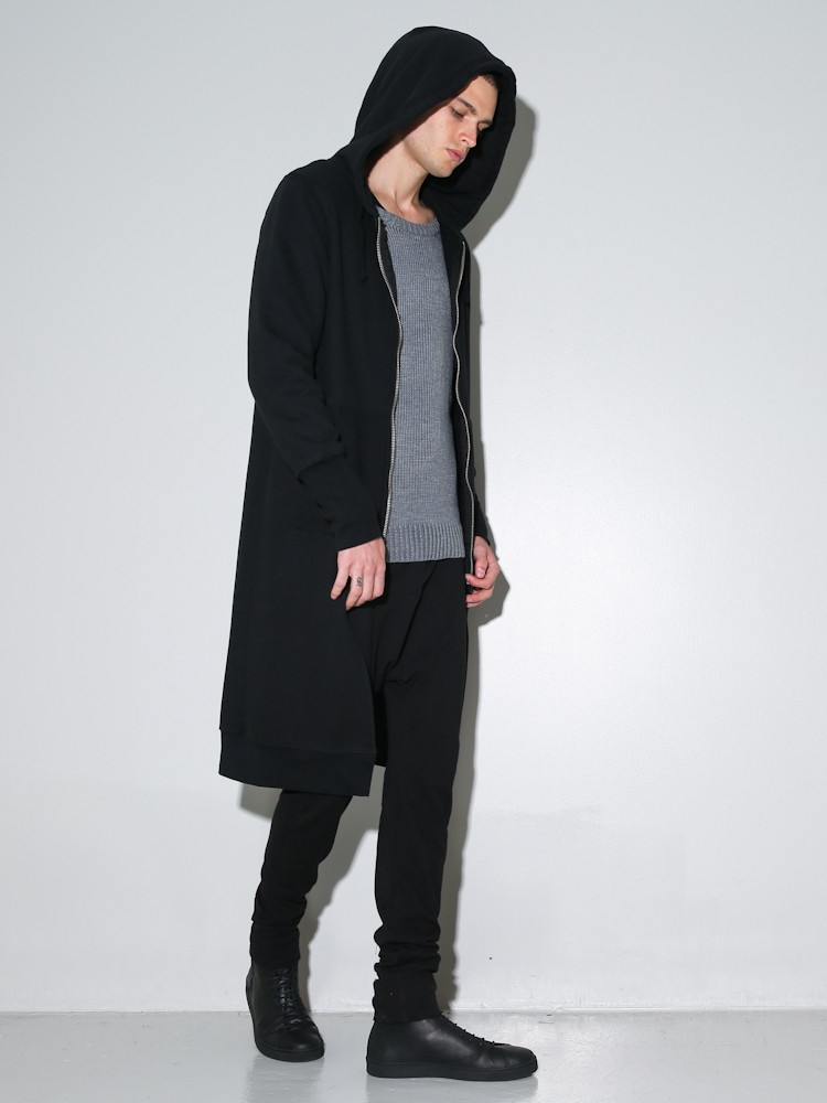 Long Black Hoodie | Fashion Ql