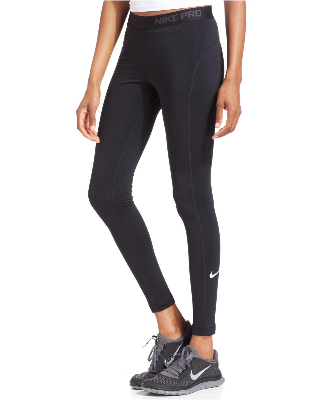 Lyst - Nike Pro Hyperwarm 3.0 Dri-Fit Leggings in Black 0fdc7d73b