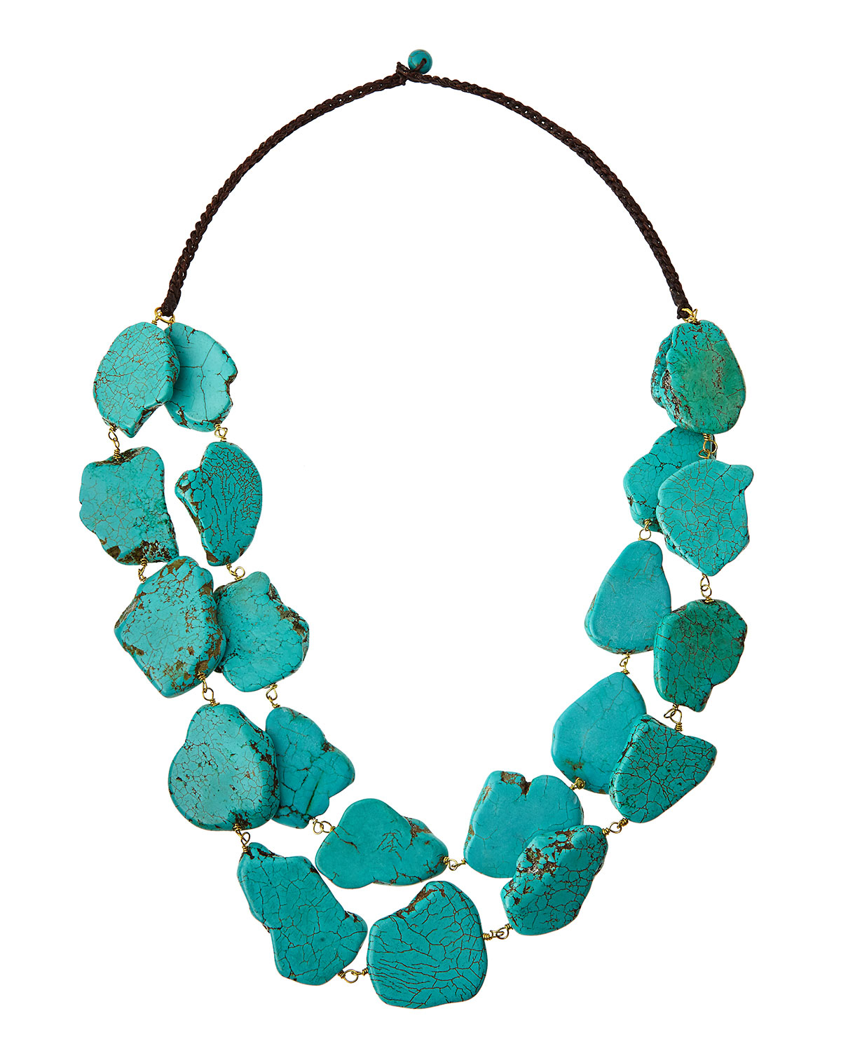 panacea layered chunky turquoise necklace in blue lyst