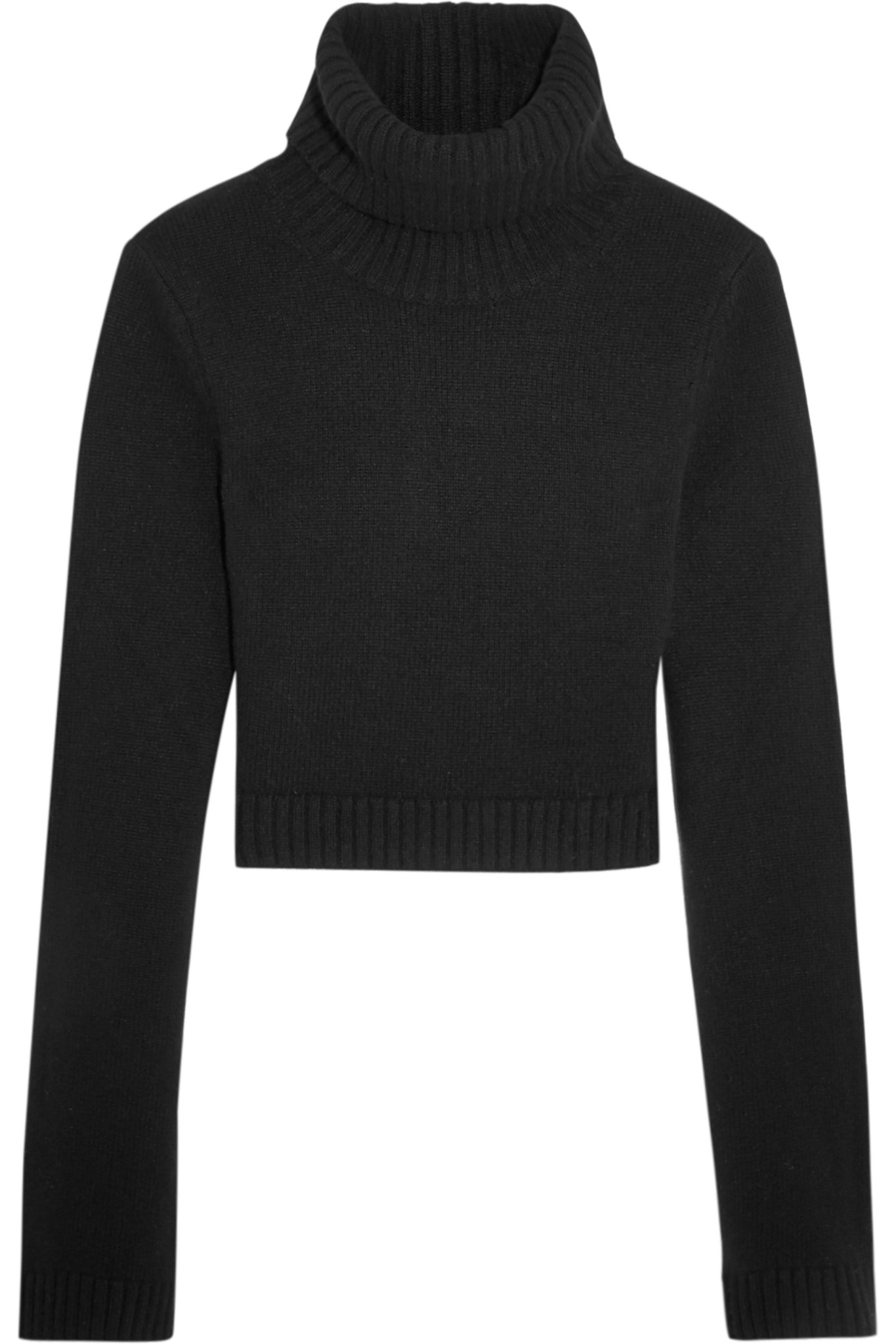 Michael kors Cropped Cashmere Turtleneck Sweater in Black | Lyst