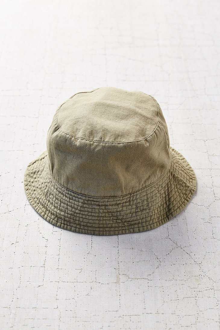 Lyst - Urban Outfitters Summer Canvas Bucket Hat in Green 10f2200bc82c