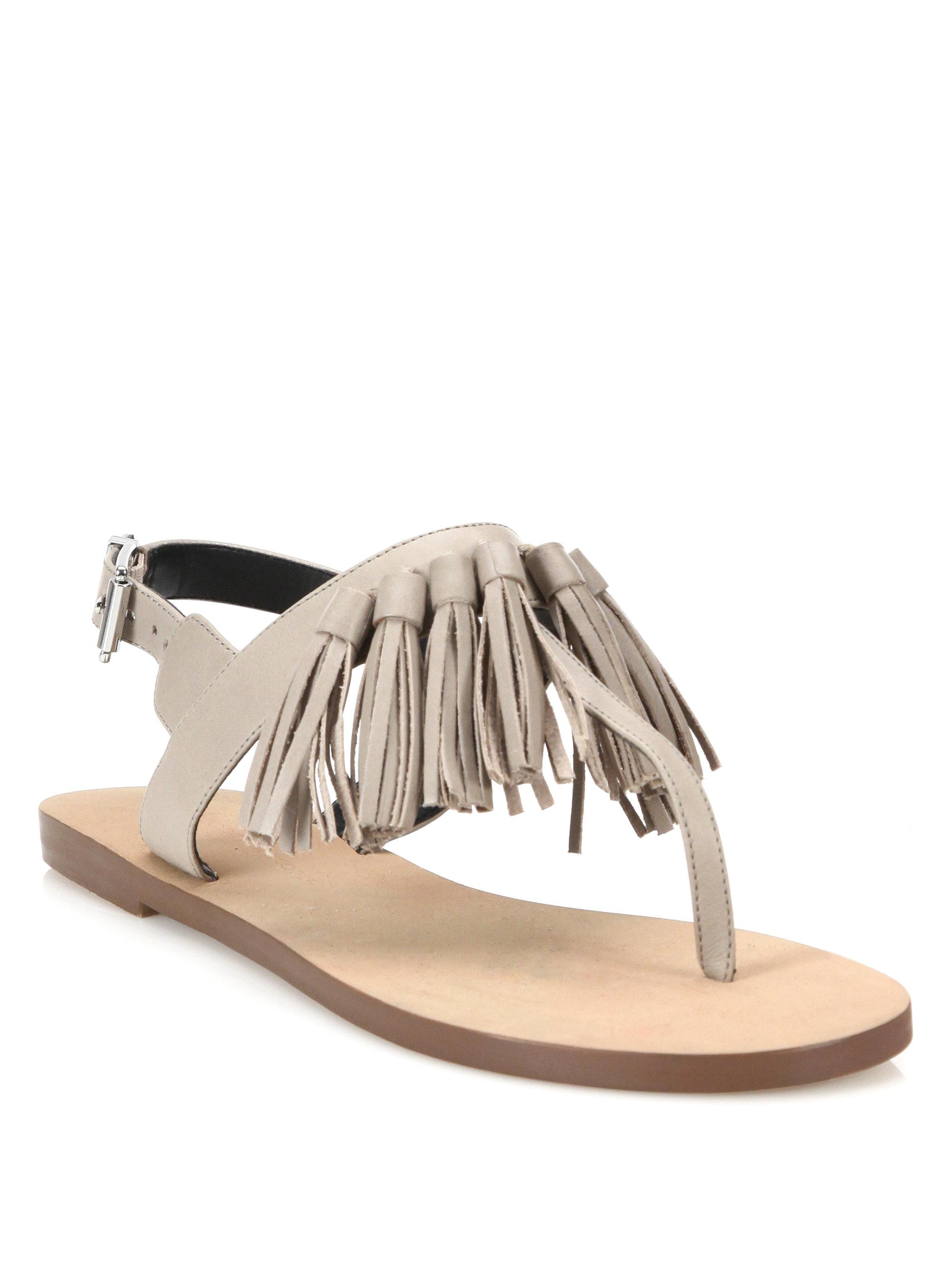 Rebecca Minkoff Erin Leather Tassel Sandal mBOIhDoSK