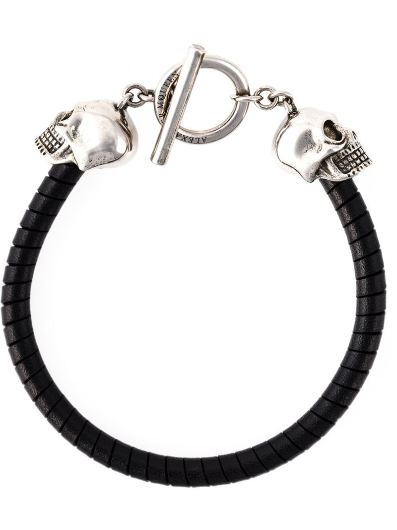Alexander mcqueen Toggle Skull Bracelet in Metallic