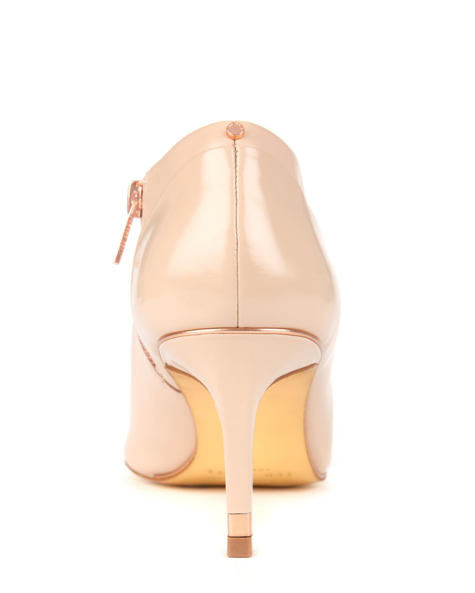 Brown Kitten Heel Boots
