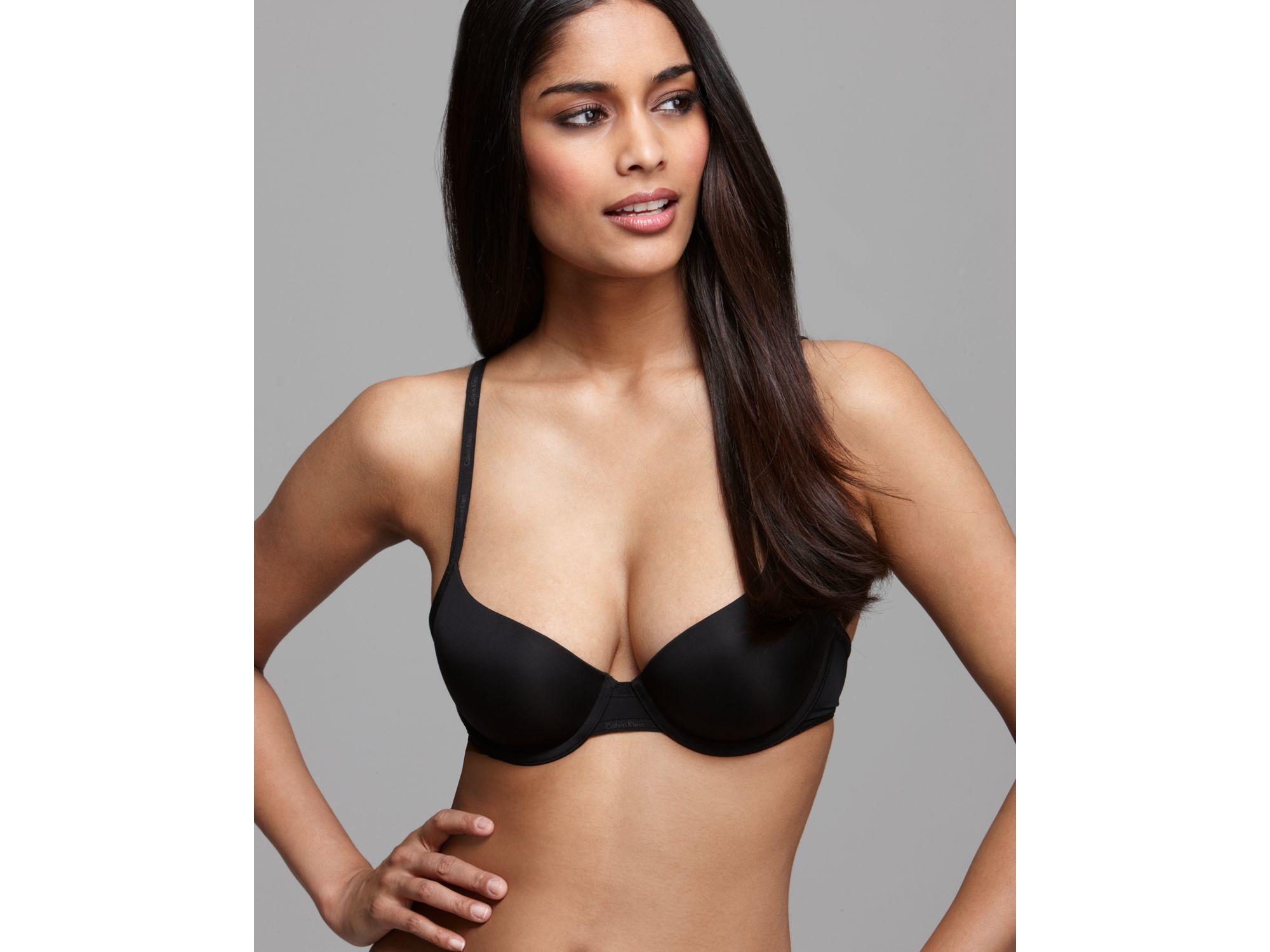 0fec868d5f64f Calvin Klein Demi Bra - Sexy Signature  f3262 in Black - Lyst