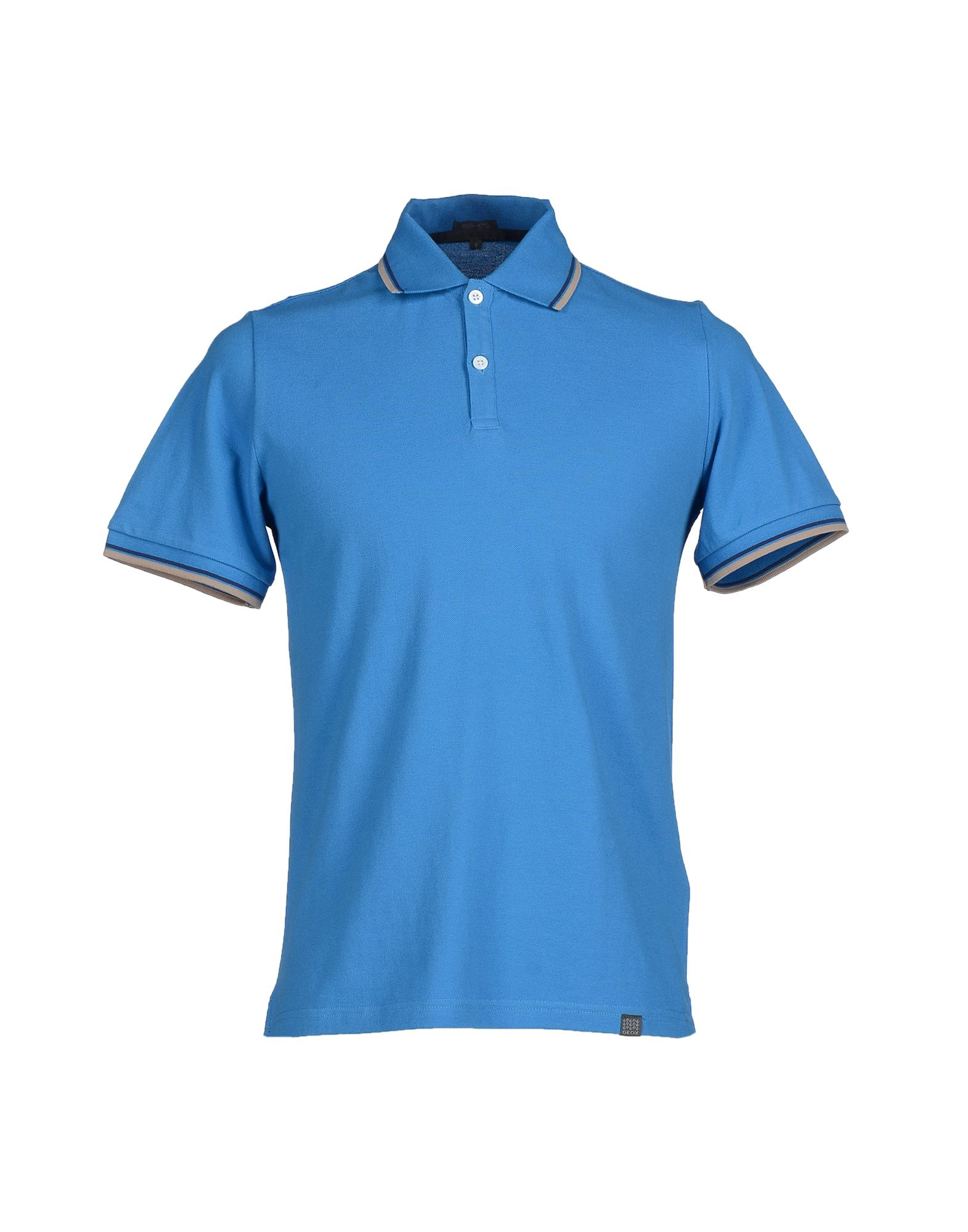 Lyst geox polo shirt in blue for men Man in polo shirt