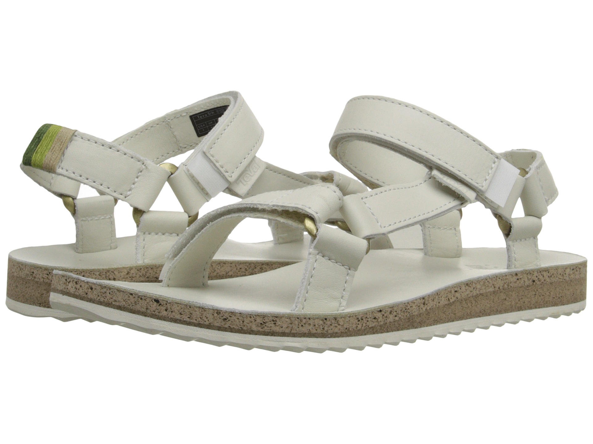 teva original universal crafted leather in white lyst