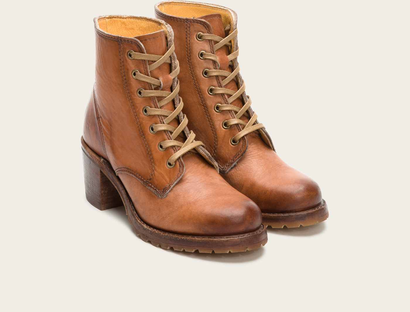 Frye Sabrina 6g Lace Up In Brown Lyst