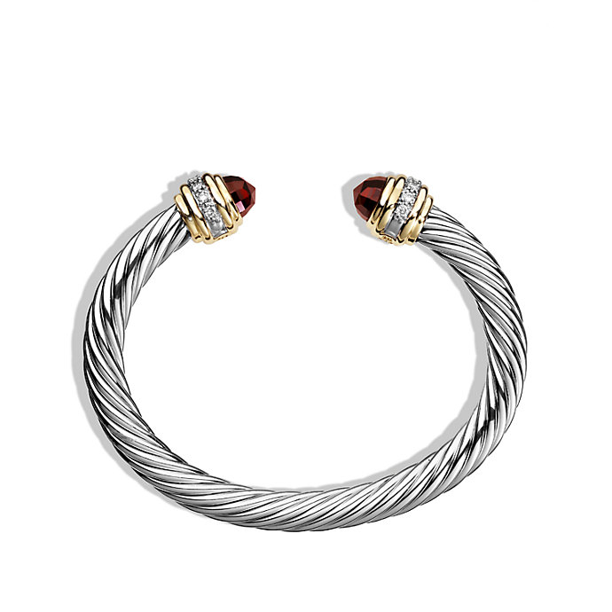 David Yurman Cable Bracelet With Diamonds