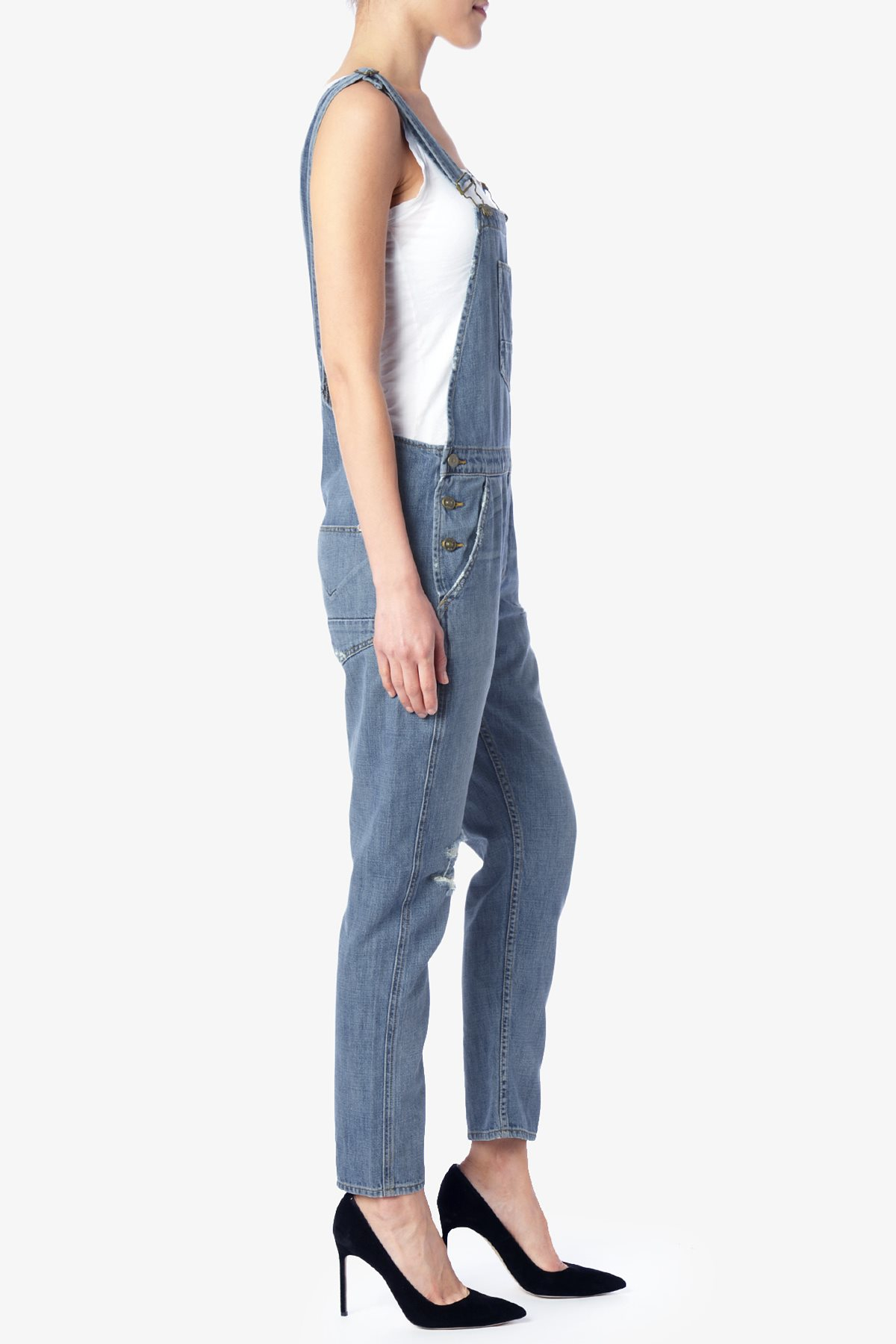 Lyst Hudson Jeans London Overall In Blue