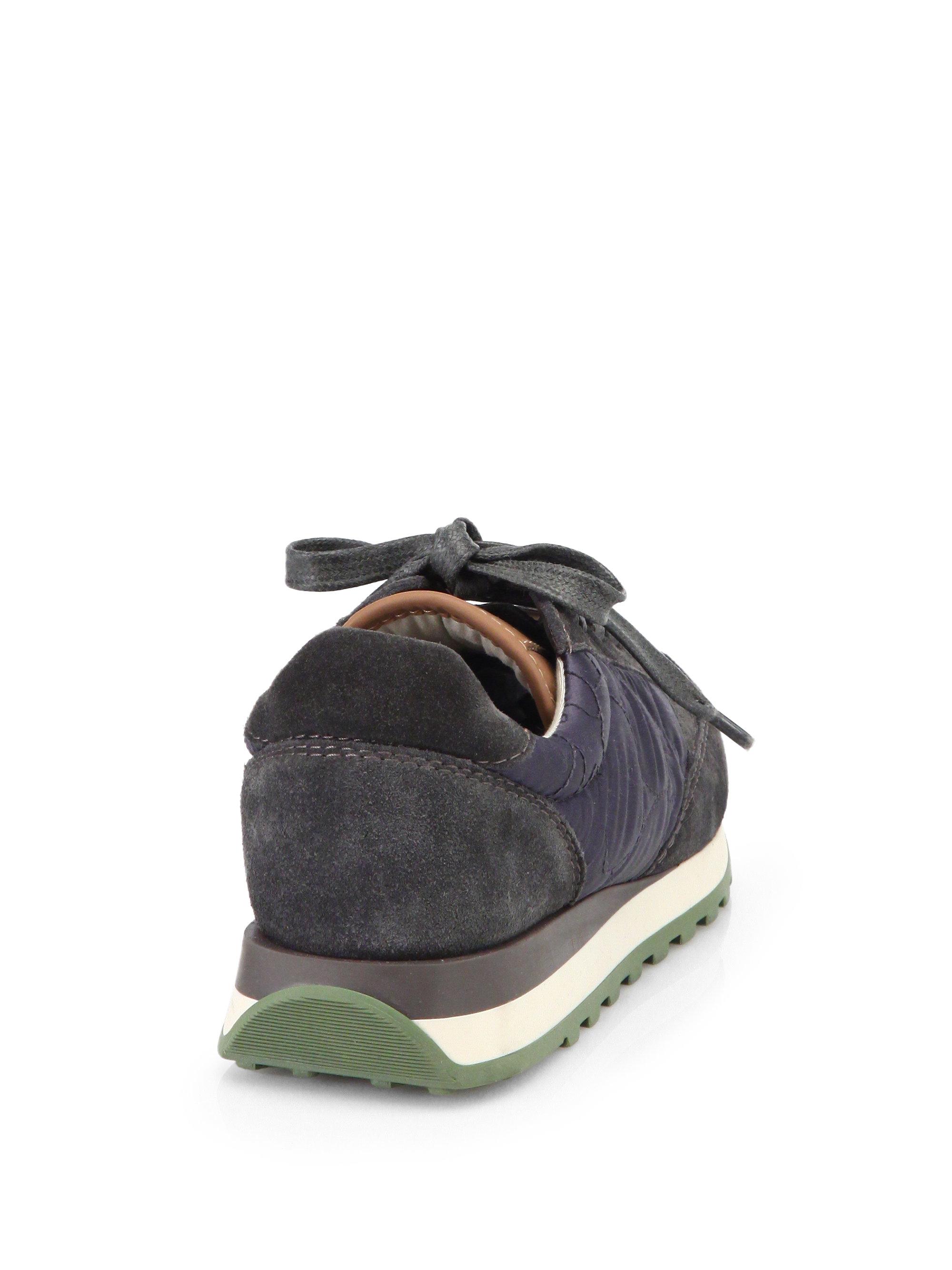 Brunello Cucinelli Mixed Media Suede Sneakers vkkpdBHe
