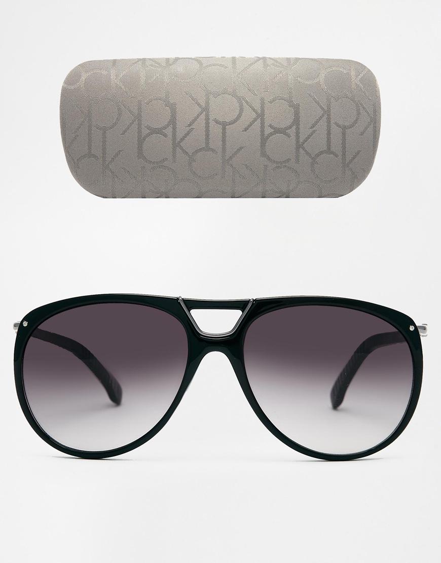 78680a887f Lyst - Calvin Klein Ck Aviator Sunglasses in Black for Men