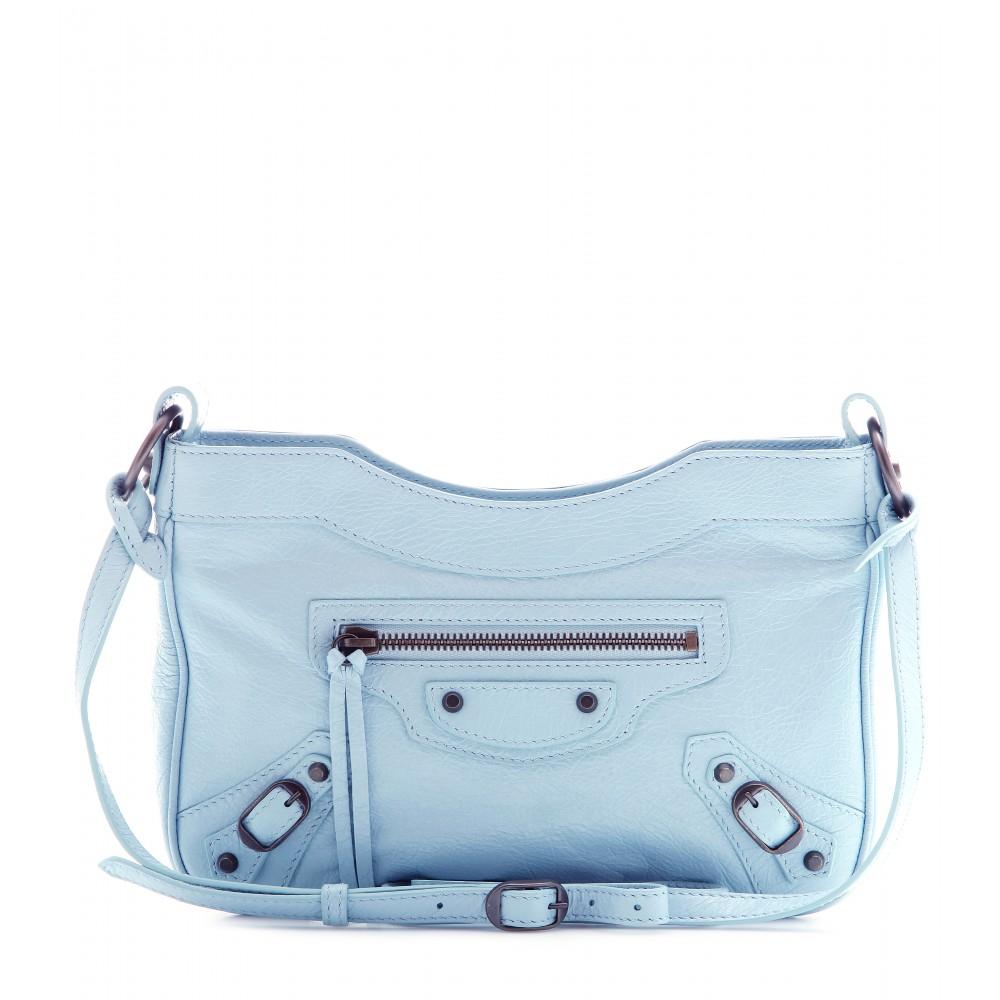 94c5da3a3e Balenciaga Classic Hip Leather Shoulder Bag in Blue - Lyst