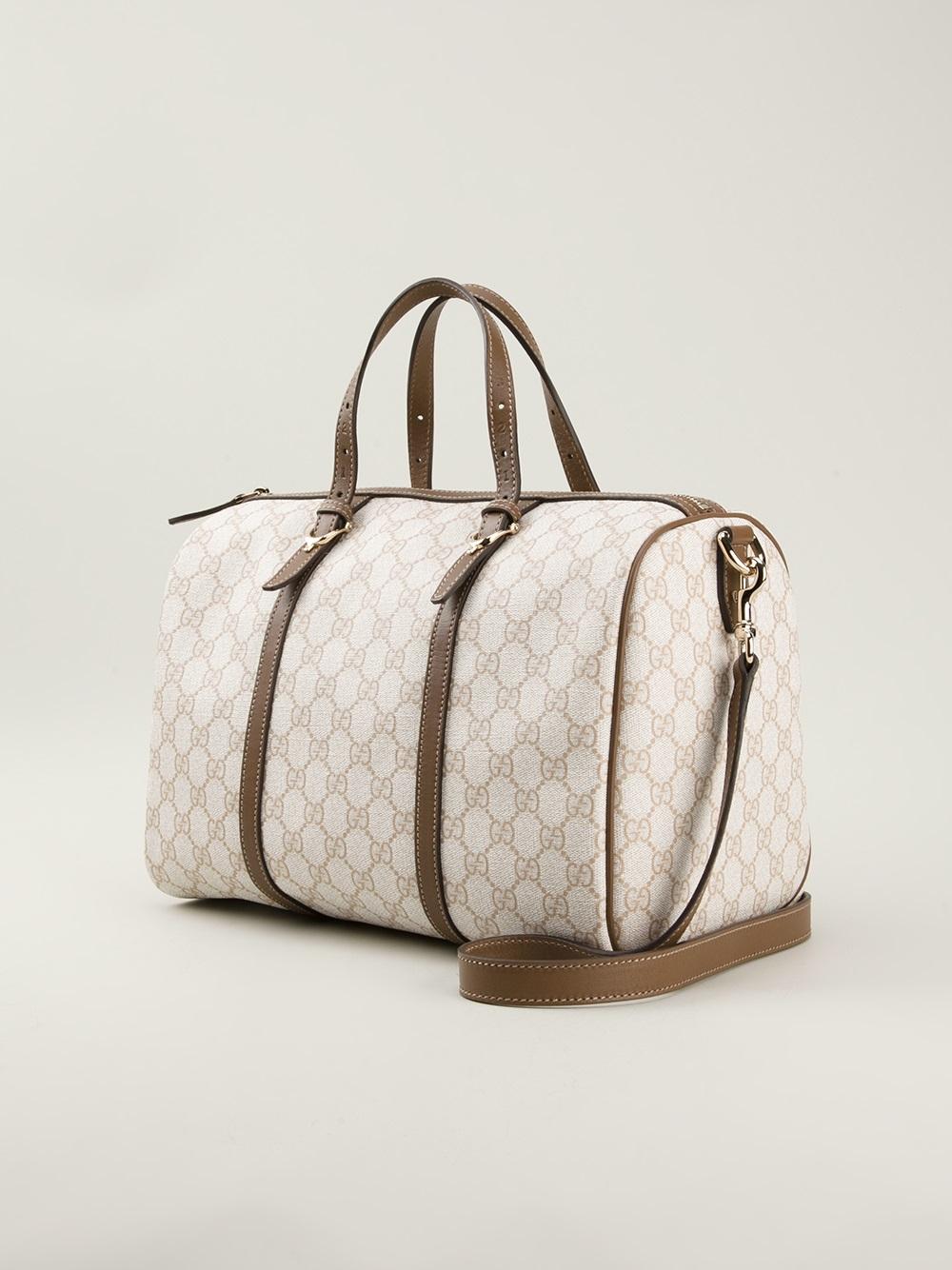 4bf3e10ba02c Gucci Boston Bowling Bag in Natural - Lyst