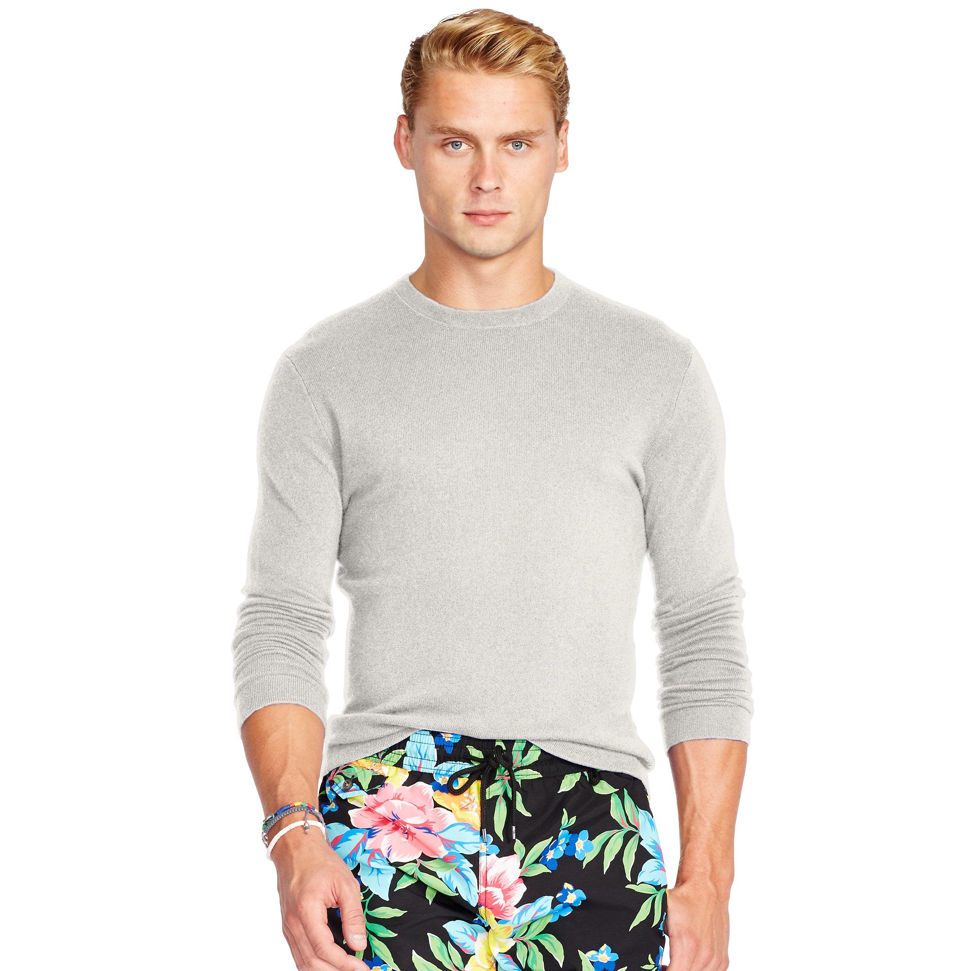 Polo Ralph Lauren | Gray Cashmere Crewneck Sweater for Men | Lyst. View Fullscreen