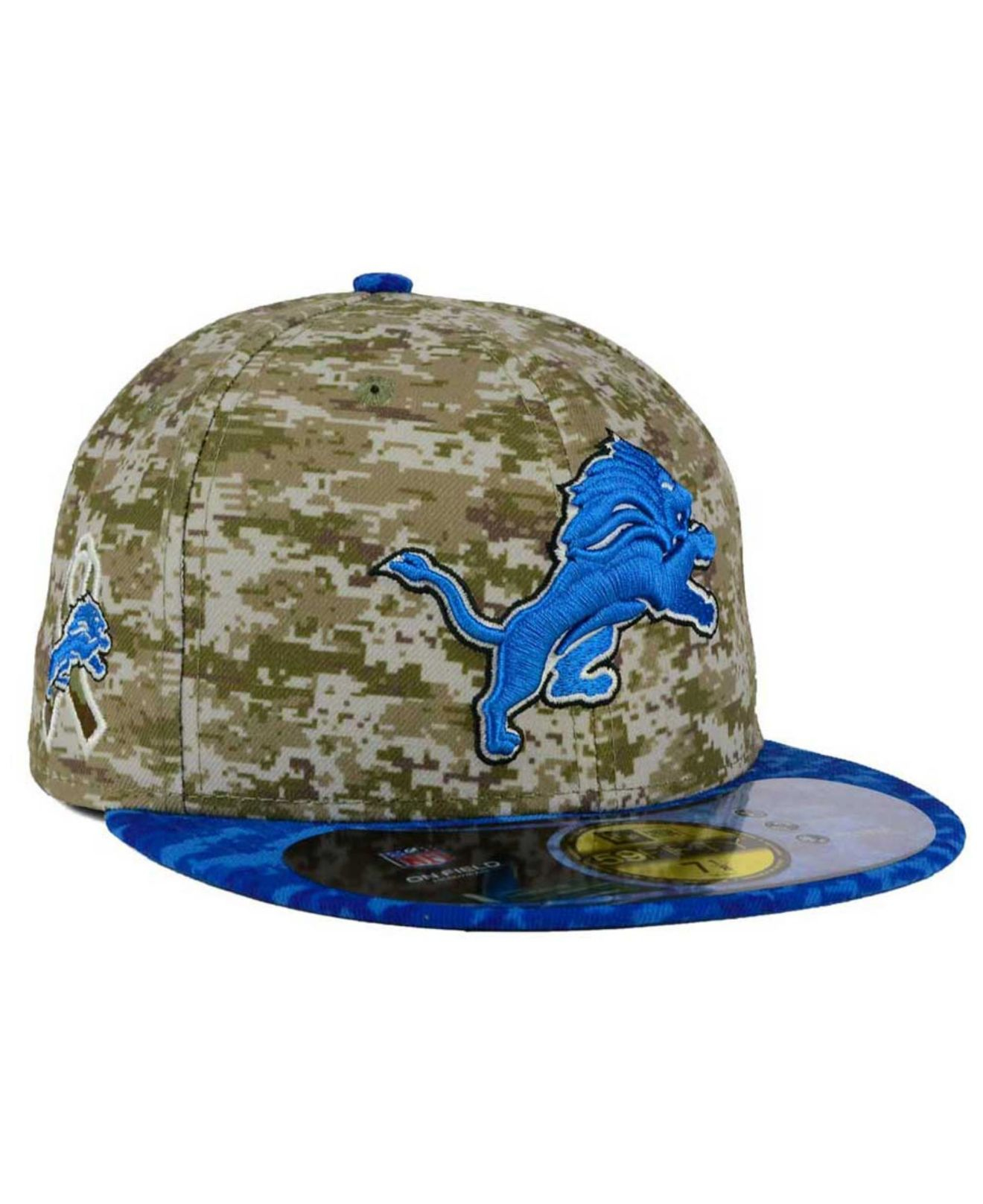 ee6da05664e Lyst - KTZ Detroit Lions Salute To Service 59fifty Cap in Green for Men