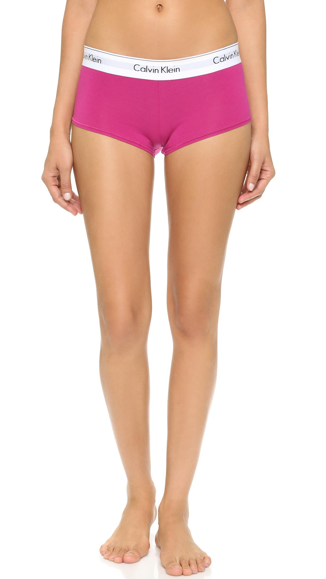 dcd615fb22 Lyst - Calvin Klein Modern Cotton Boyshorts - Pink Desire in Pink