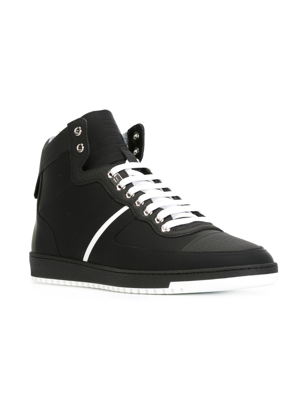 6e3dd5030a9f4 Lyst - Dior Homme Contrasting-Stripe High-Top Sneakers in Black for Men