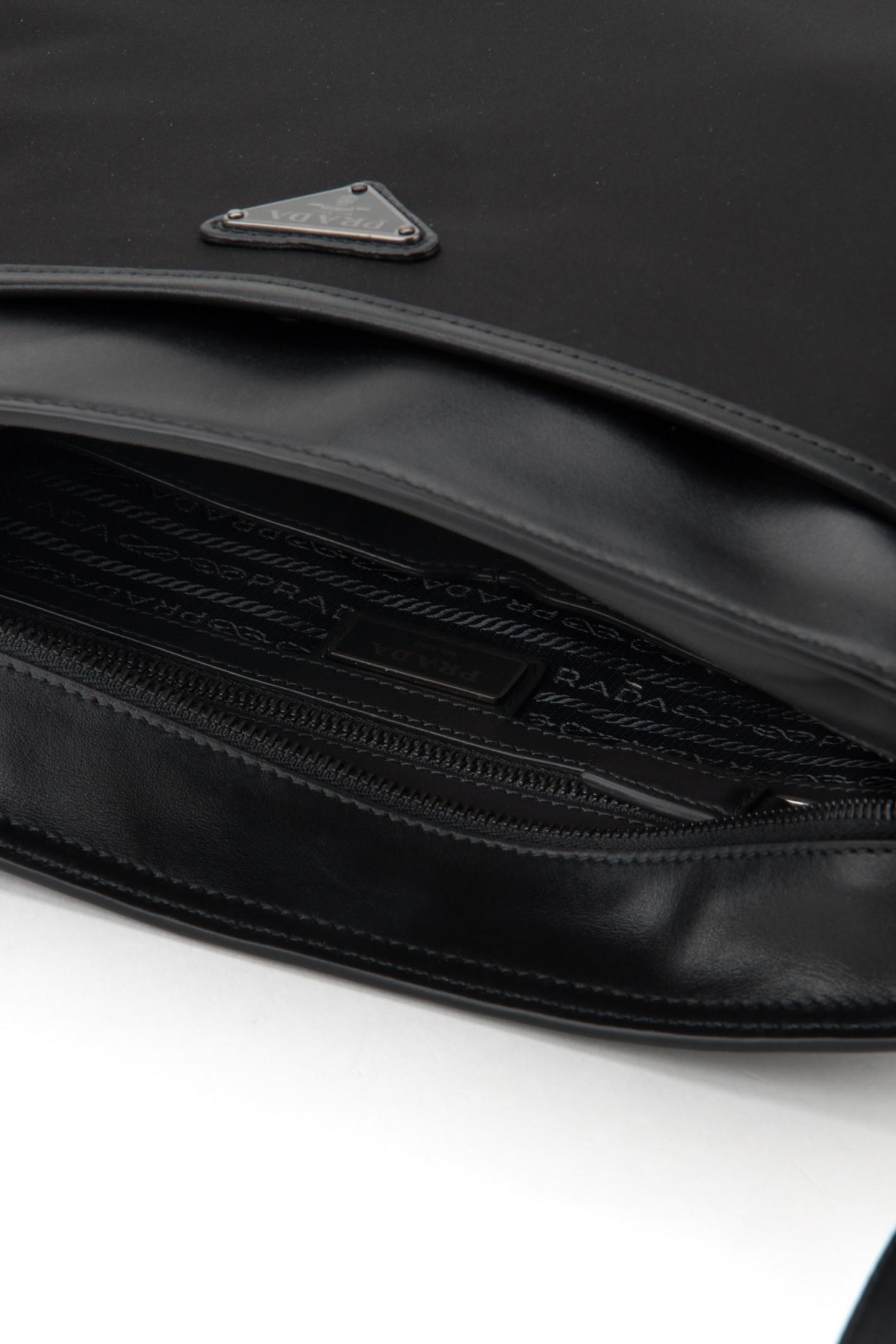 prada travel bag in coated canvas