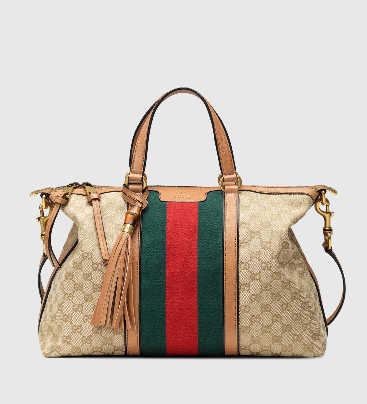 d31ff85de66c Lyst - Gucci Rania Original Gg Canvas Top Handle Bag in Blue