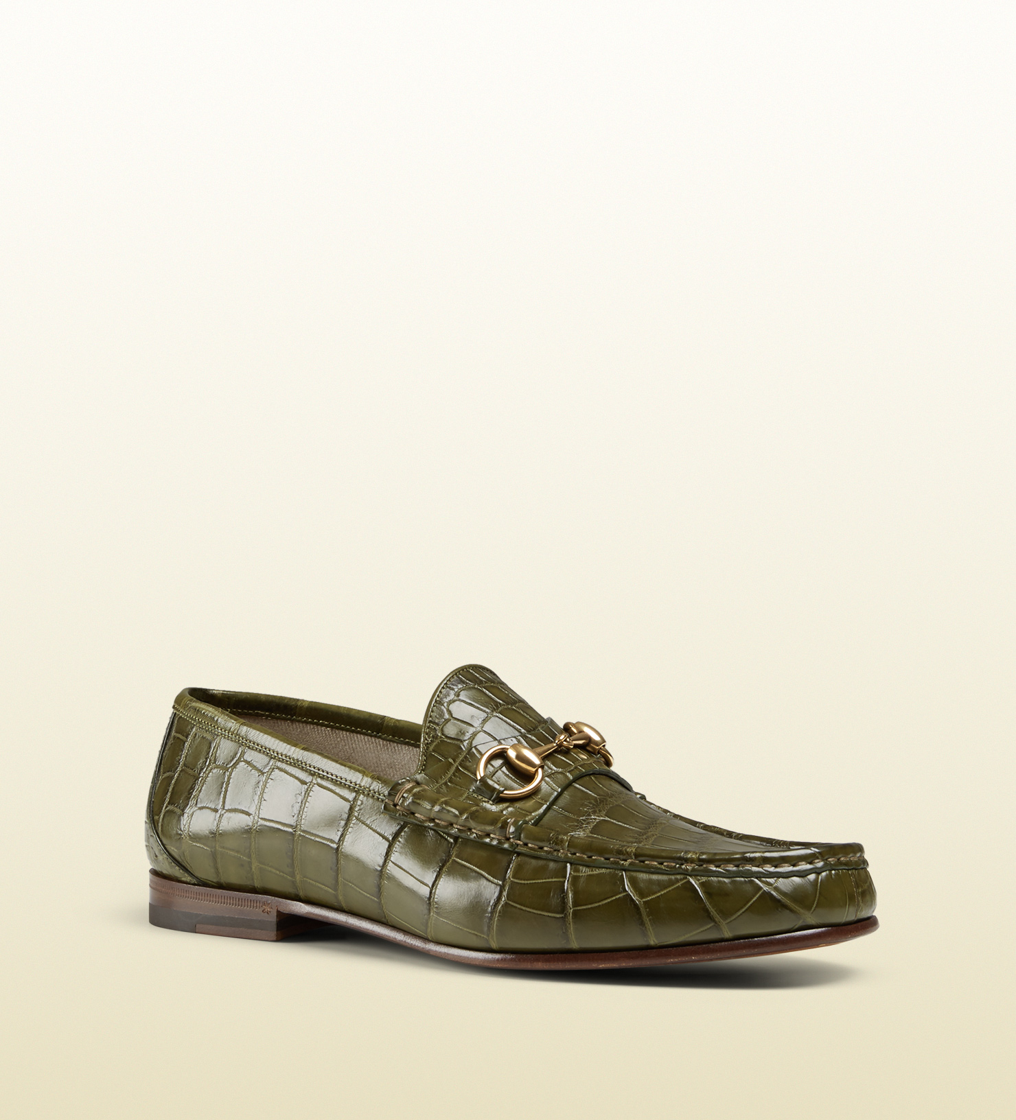 3ab49f084 Gucci Men's Crocodile 1953 Horsebit Loafer in Green for Men - Lyst