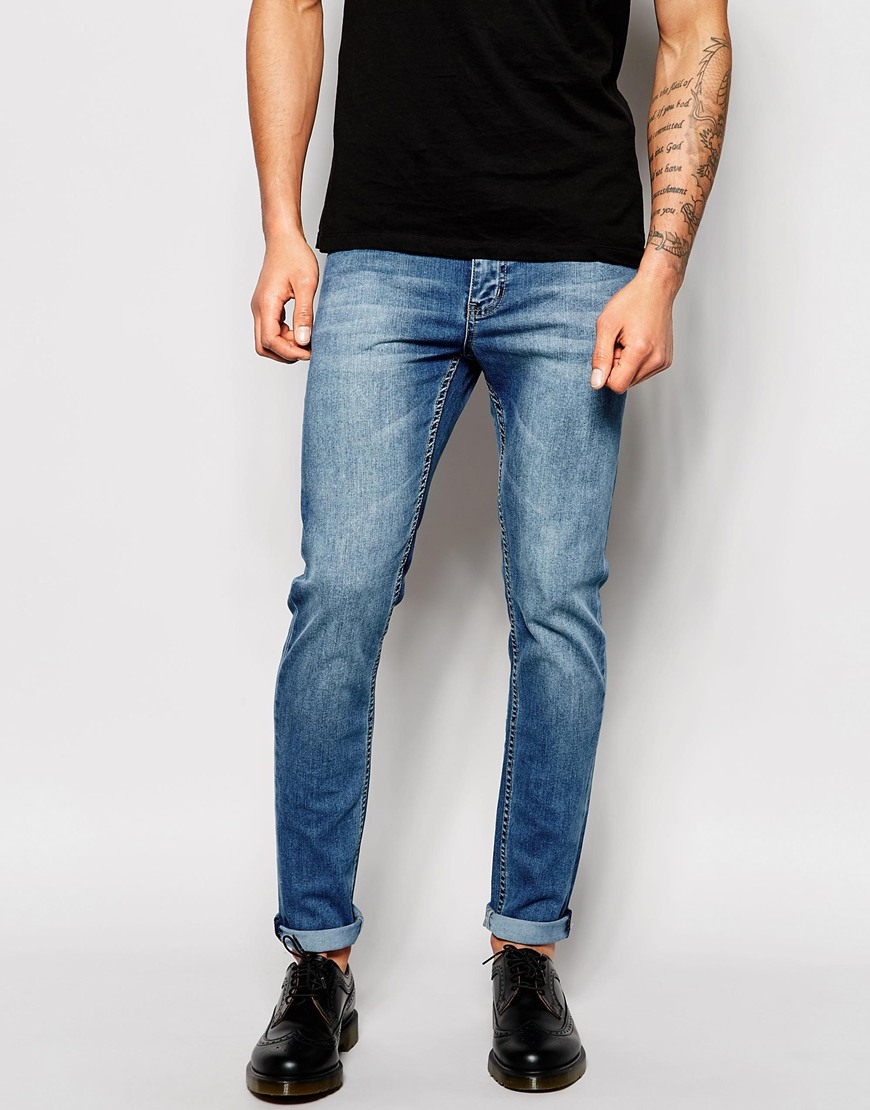 lyst cheap monday jeans tight skinny fit rise above mid. Black Bedroom Furniture Sets. Home Design Ideas