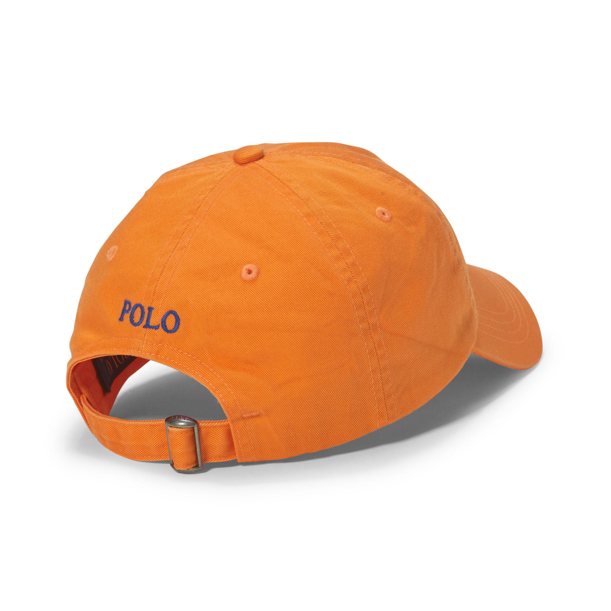 5639d36e2c5 Polo Ralph Lauren Cotton Chino Baseball Cap in Orange for Men - Lyst