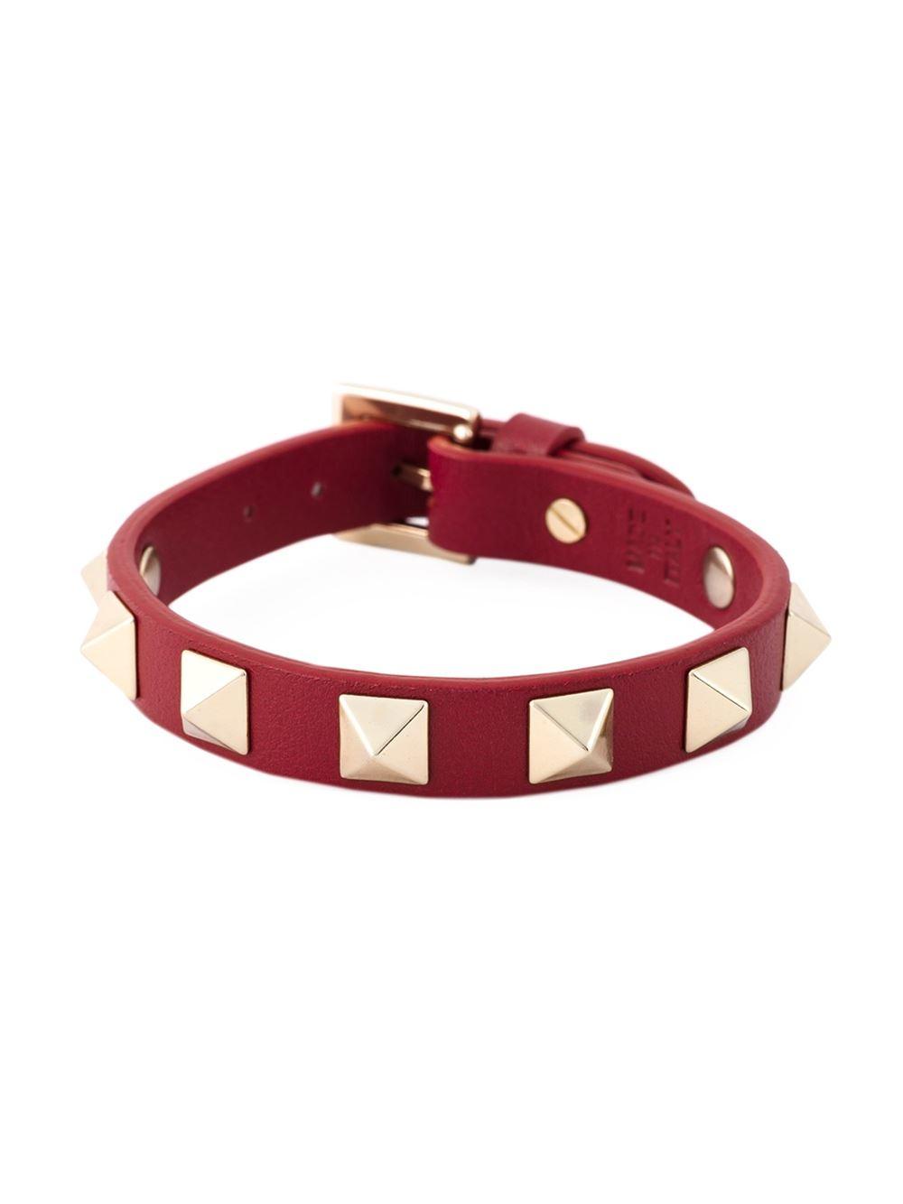 Valentino Rockstud bracelet - Red sOpG4dWPI