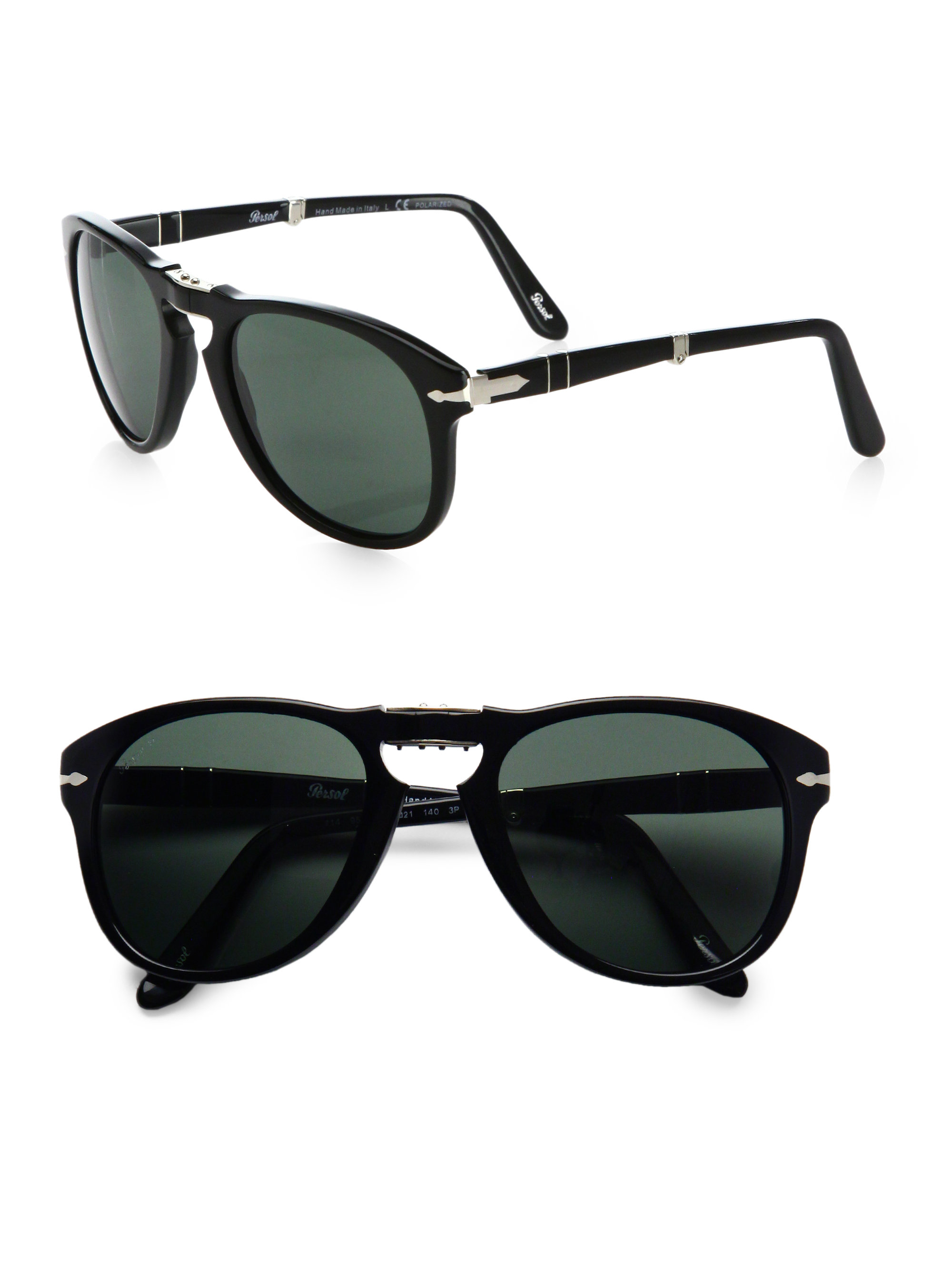 1e4e979687 image 0 Source · Lyst Persol Vintage Folding Keyhole Sunglasses in Black  for Men