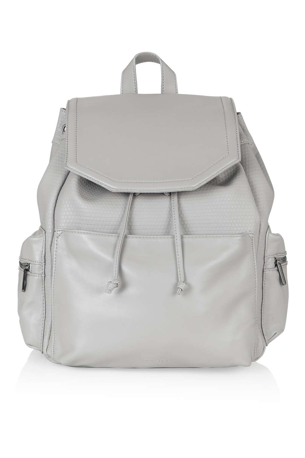 2f37b92f7c8b Lyst - TOPSHOP Perforated Backpack in Gray