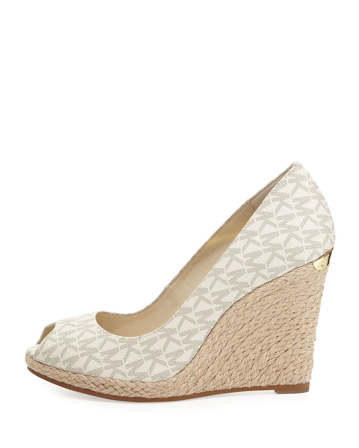 2adb2c9b27a Lyst - MICHAEL Michael Kors Keegan Logo Wedge in White