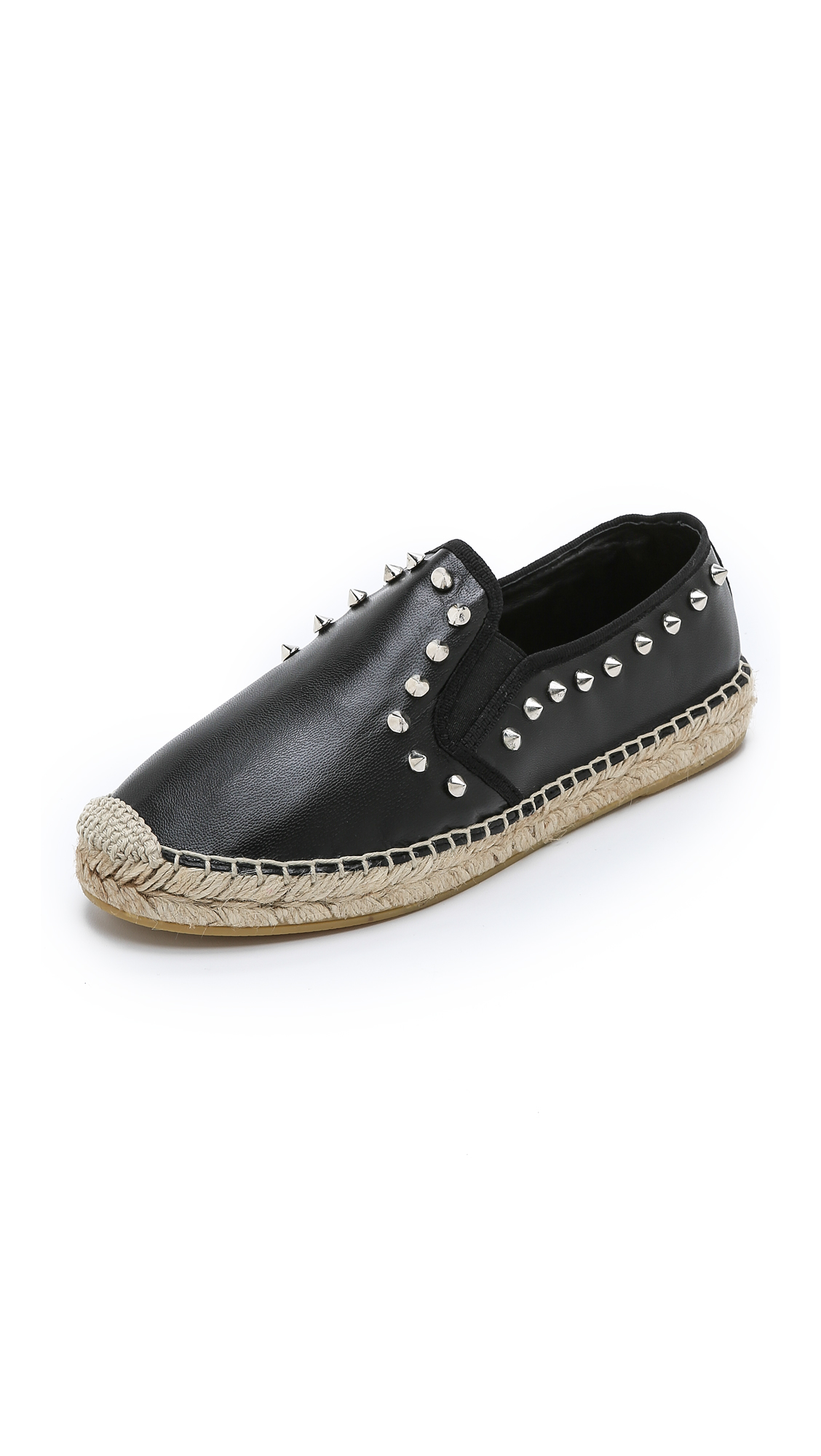 Lyst Ash Zest Studded Espadrilles White Gold In Black