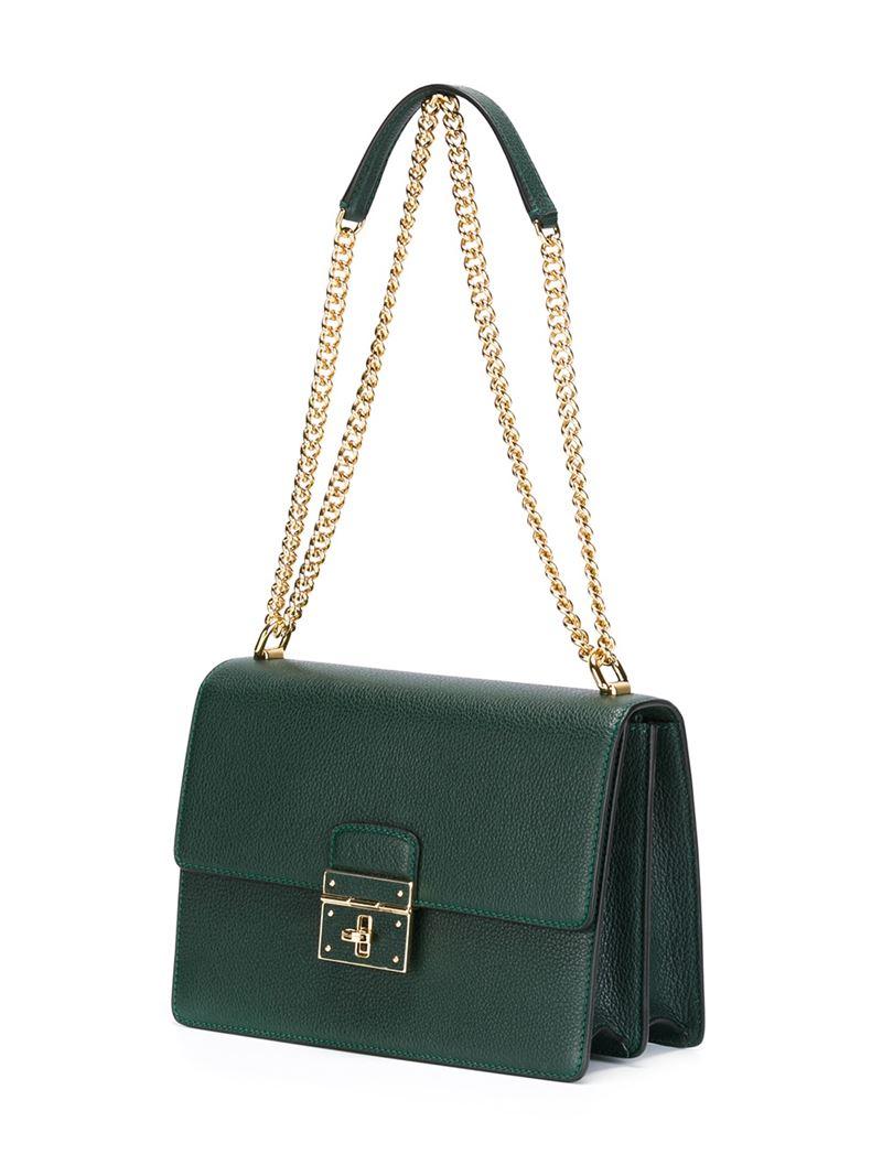 378aa2228b5 Dolce   Gabbana  rosalia  Shoulder Bag in Green - Lyst