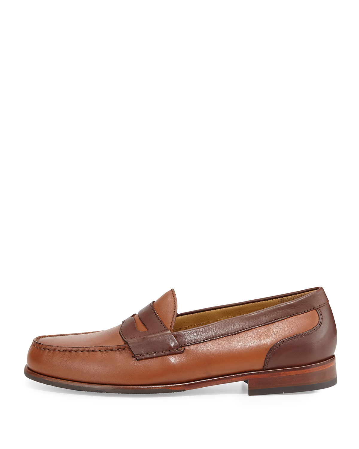 78915a115ed Lyst - Cole Haan Fairmont Penny Ii Two-tone Leather Loafer in Brown ...