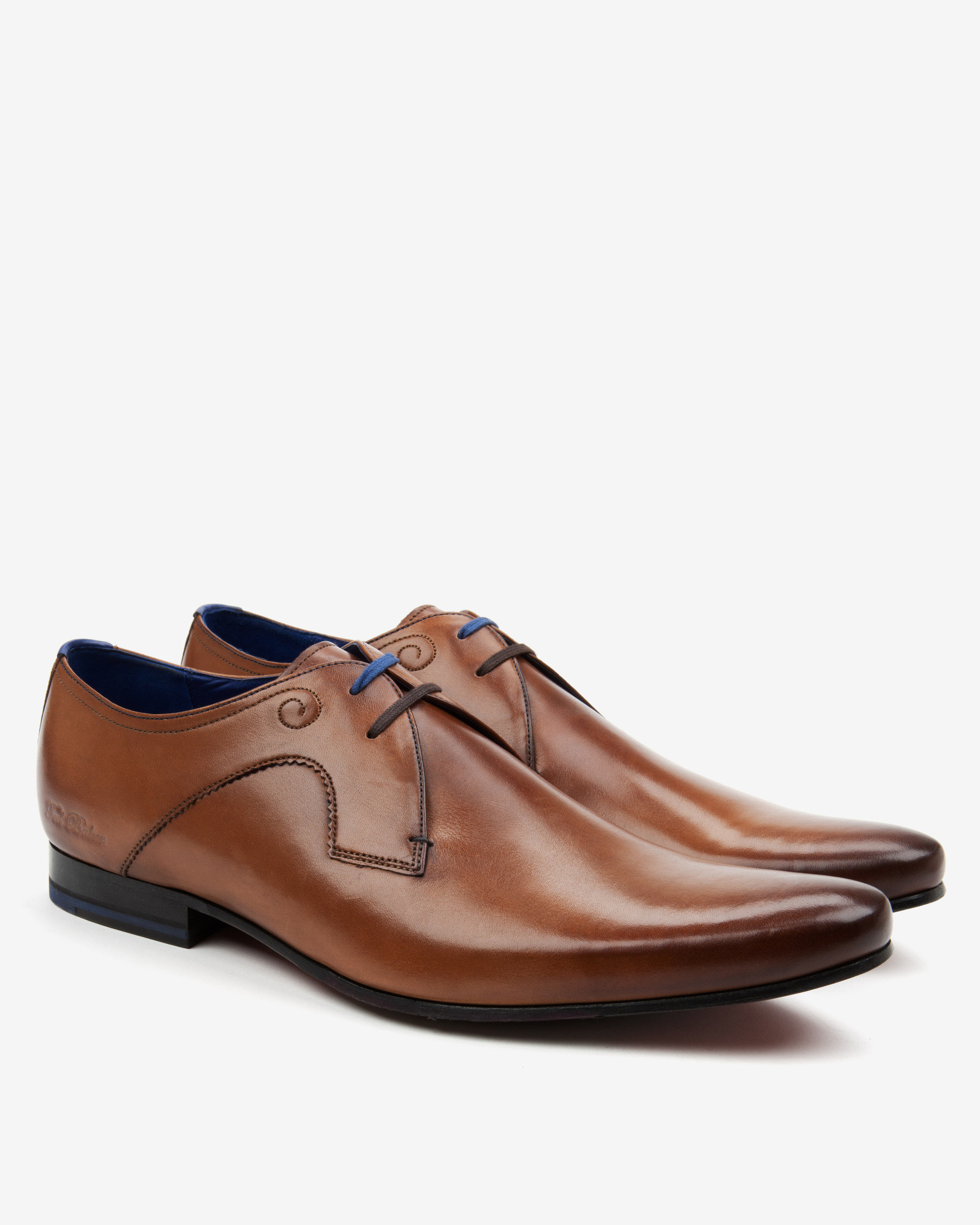 ted baker leather derby shoes in brown for lyst