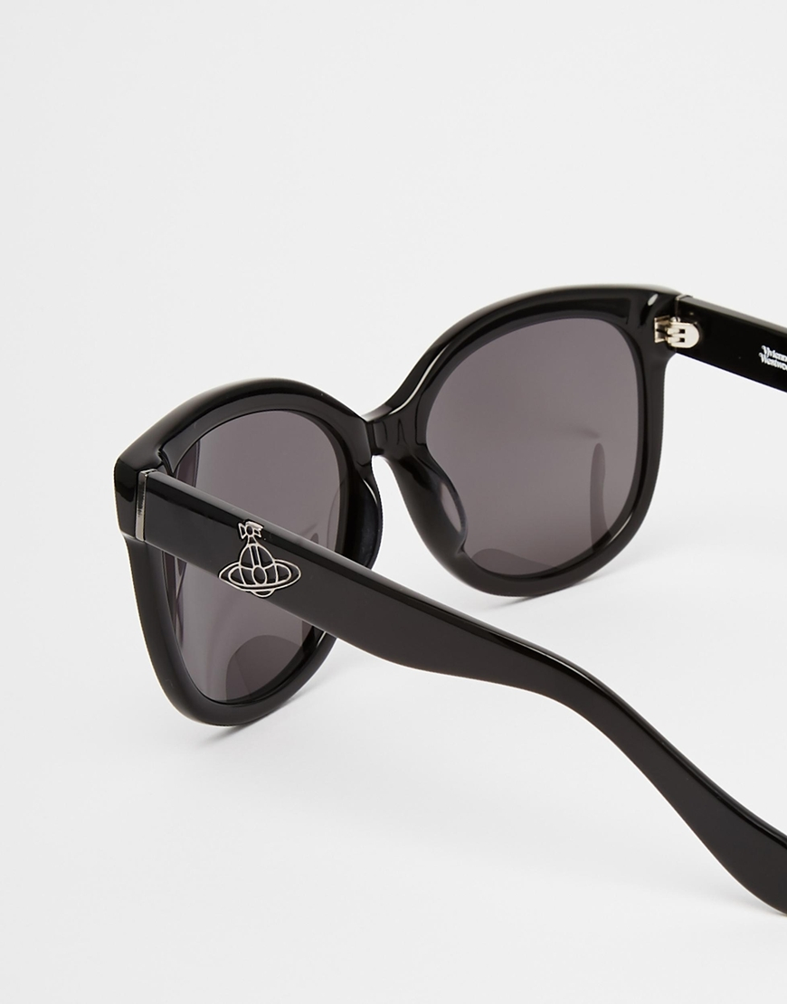 7b111e462ba Lyst - Vivienne Westwood Anglomania Round Orb Sunglasses in Black