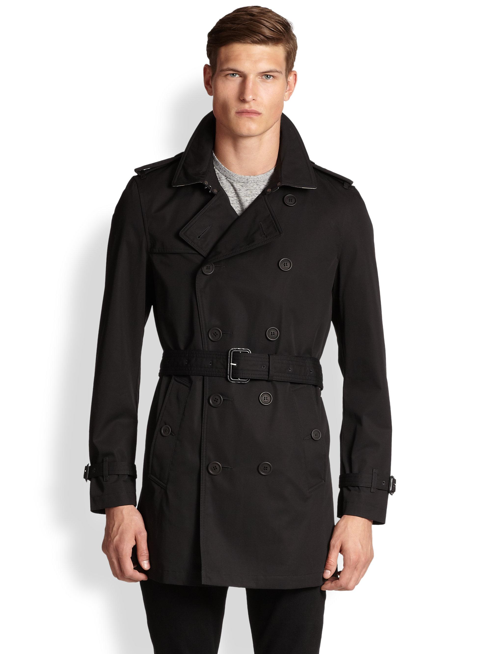 Burberry black trench raincoat