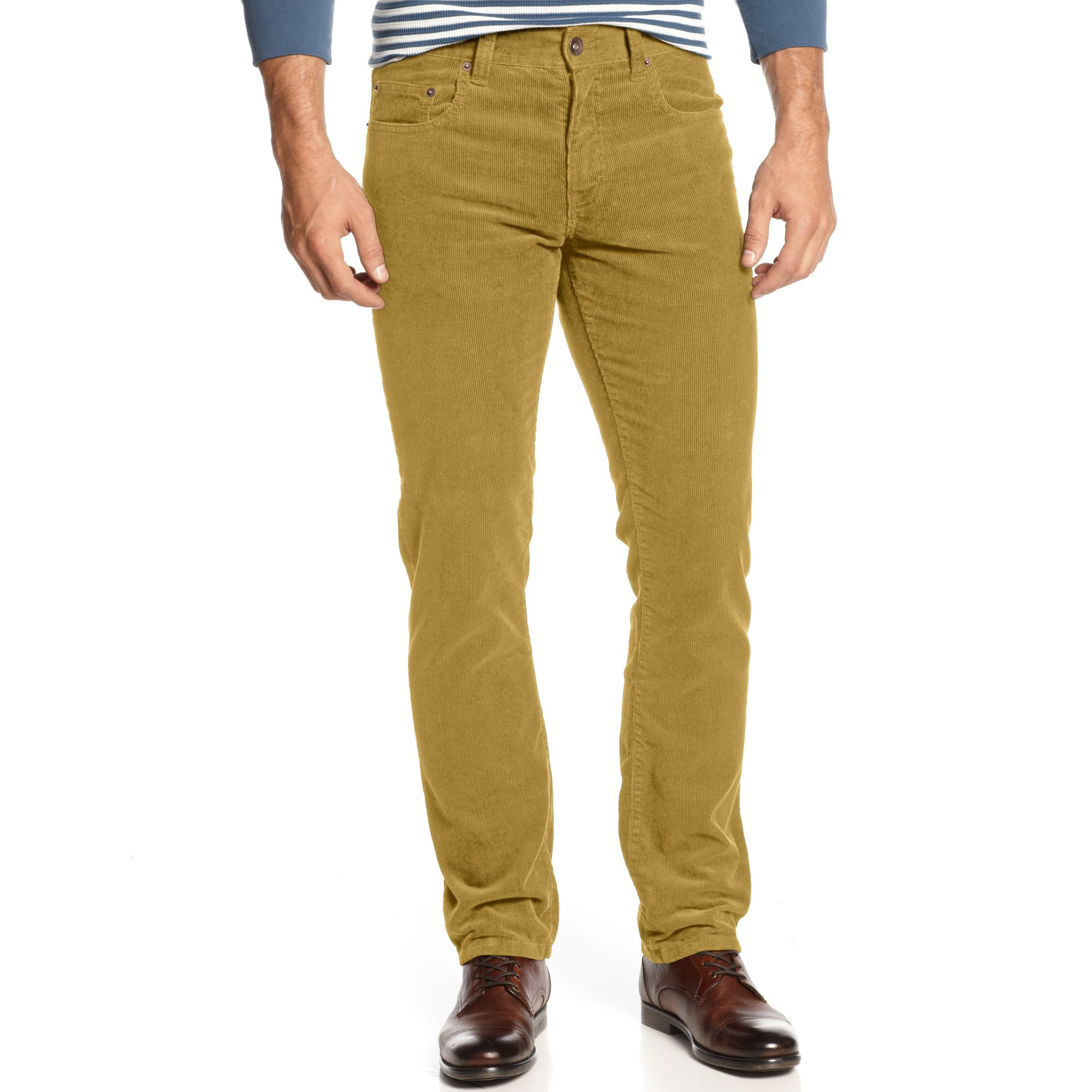 American rag Corduroy Pants in Metallic for Men | Lyst