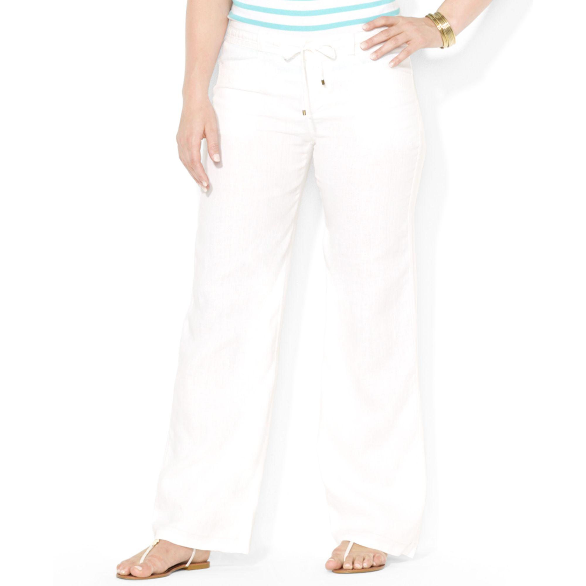 Lauren By Ralph Lauren Plus Size Drawstringwaist Wideleg