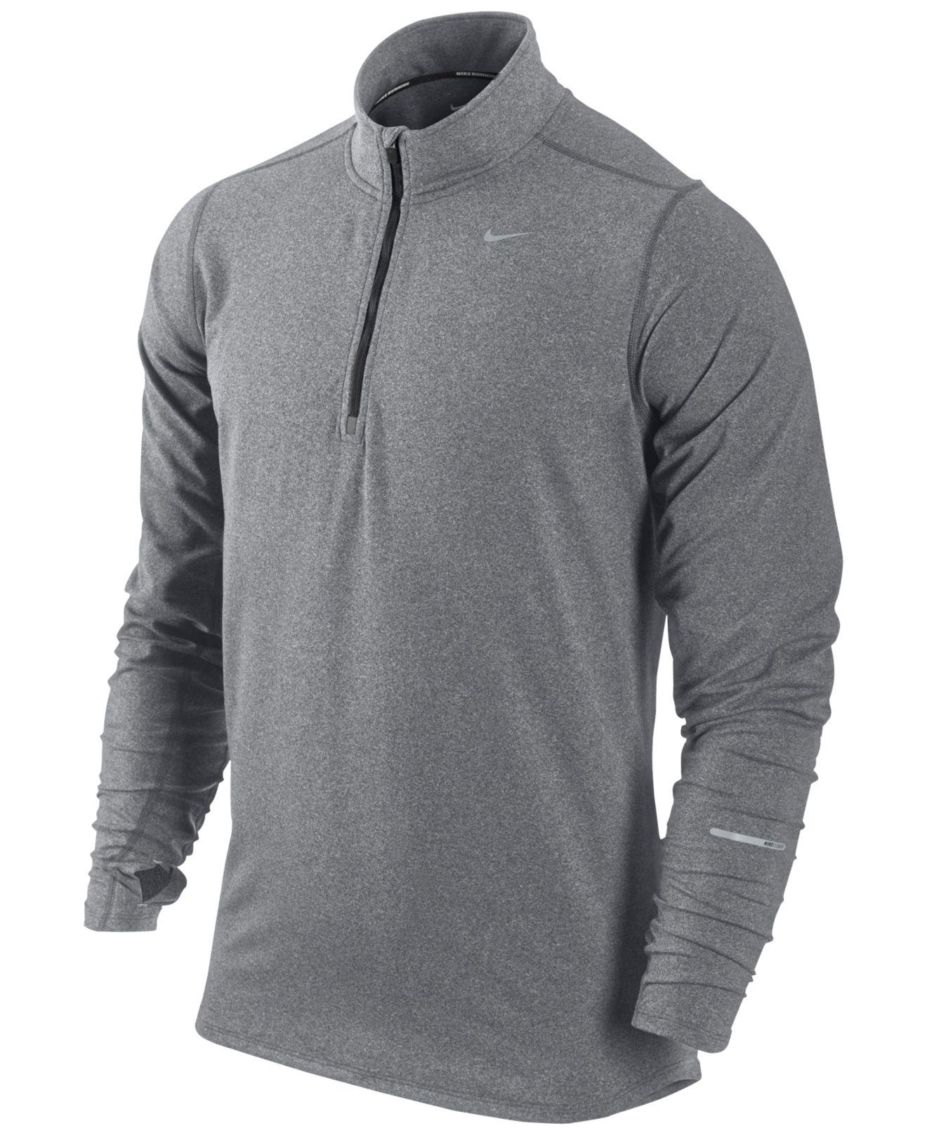 3c600bb43c05 Lyst - Nike Men s Pullover Element Half Zip Shirt in Gray for Men