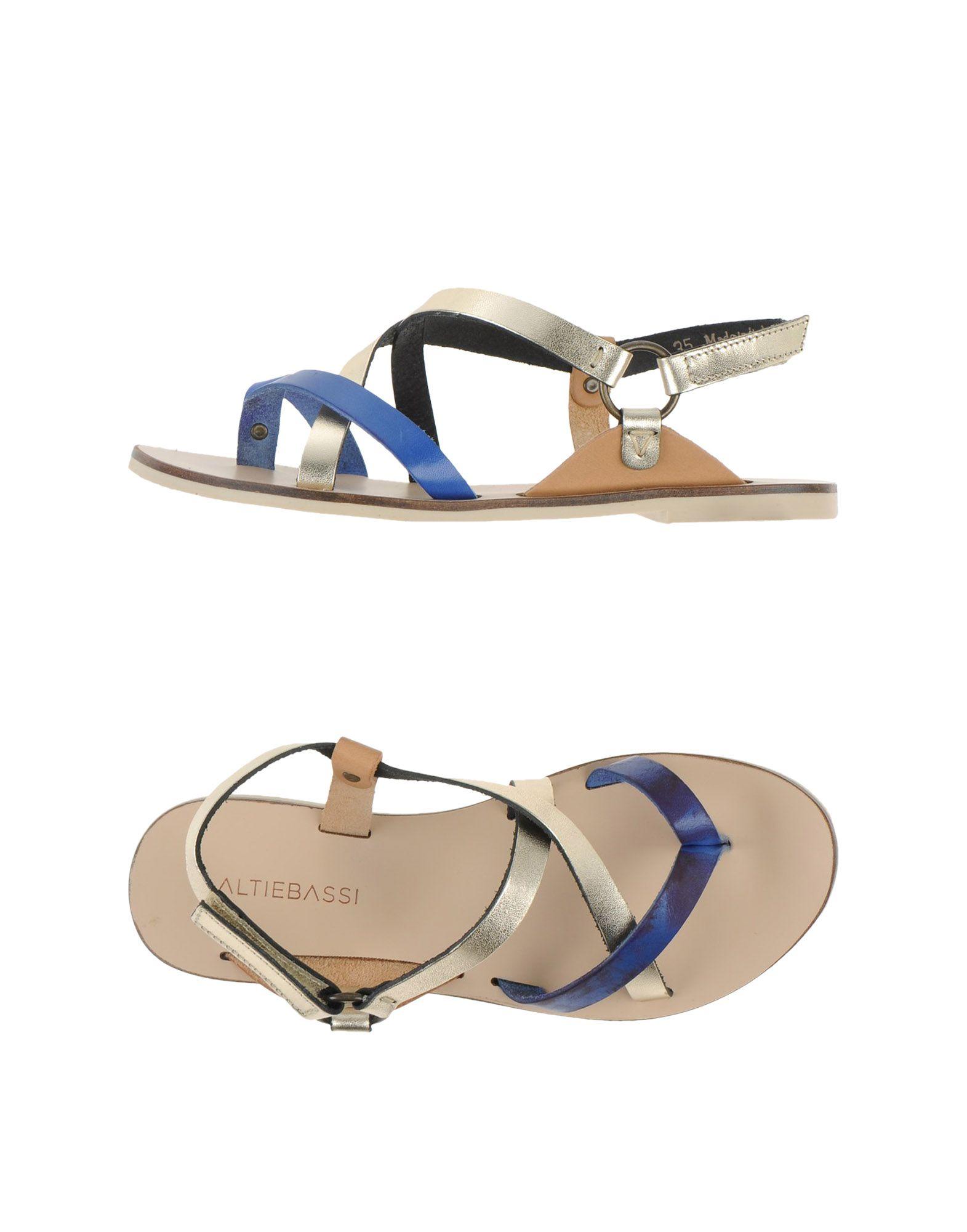 Lyst Altiebassi Toe Strap Sandal In Blue