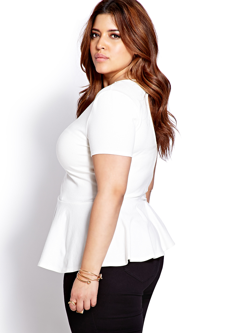 0b526b5c550 Long Sleeve Peplum Shirt Forever 21