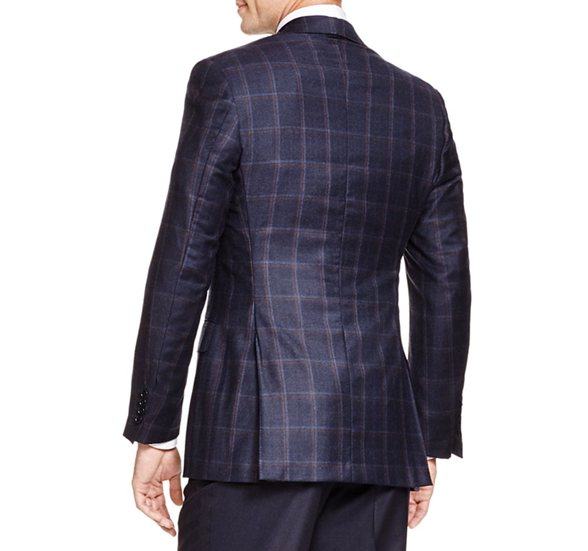 canali siena soft double windowpane classic fit sport coat