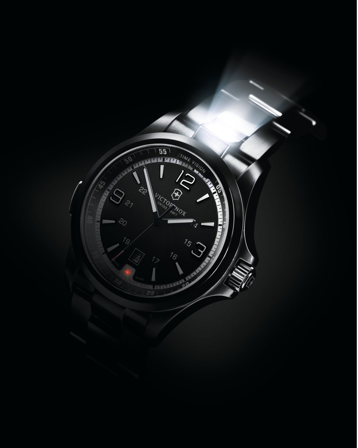 Victorinox Night Vision Led Watch in Gray