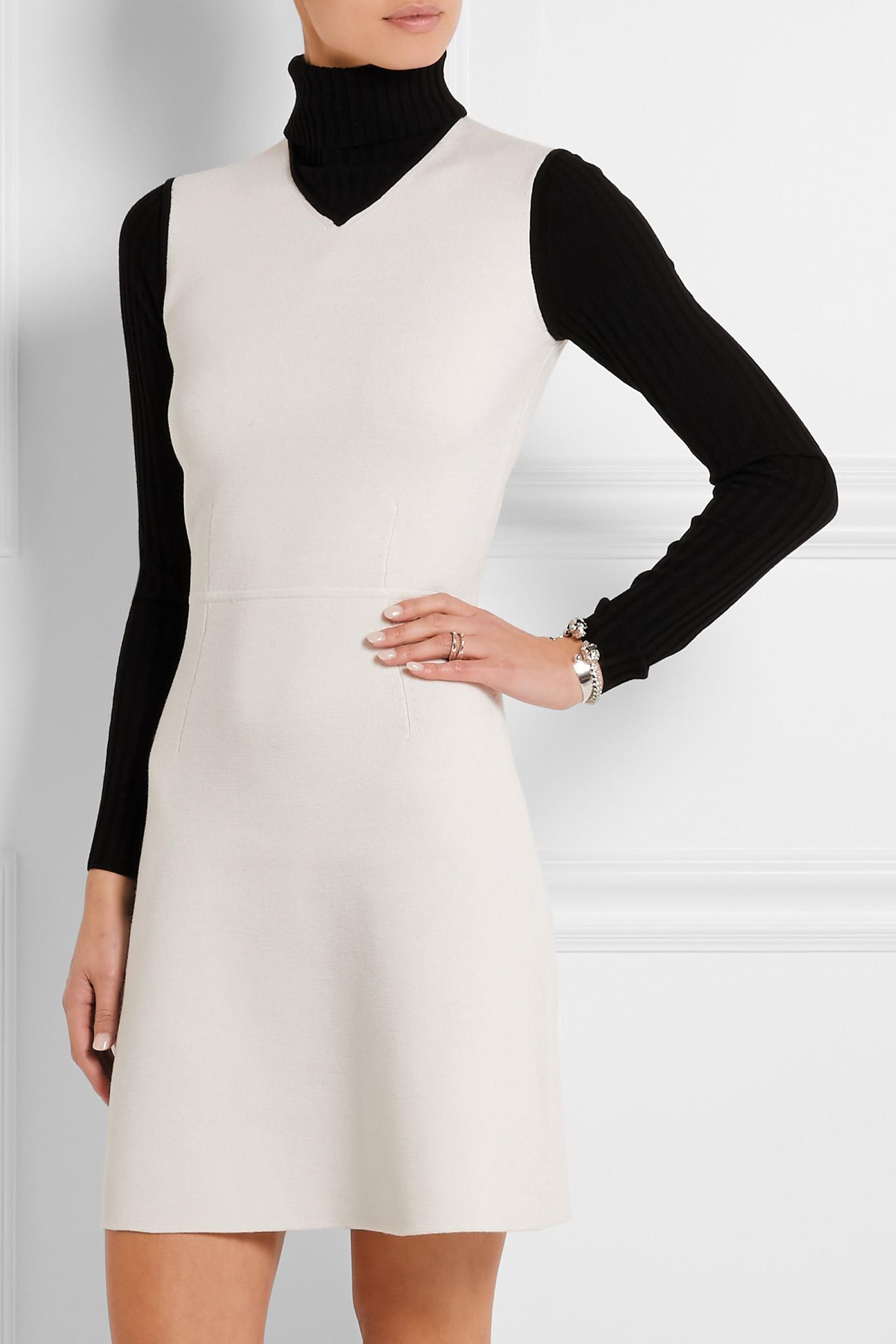 Lyst Theory Myrelle Wool Blend Turtleneck Mini Dress In