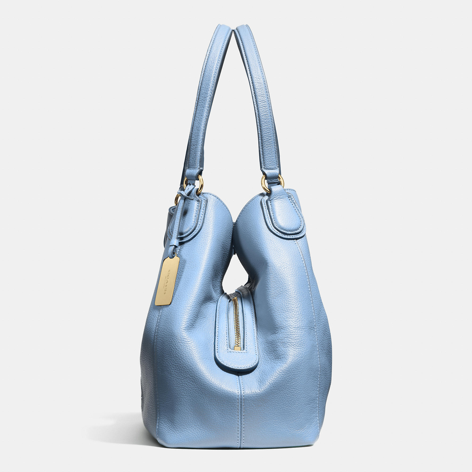 7a0b7cfa7c Lyst - COACH Embossed Horse And Carriage Edie Shoulder Bag In ...