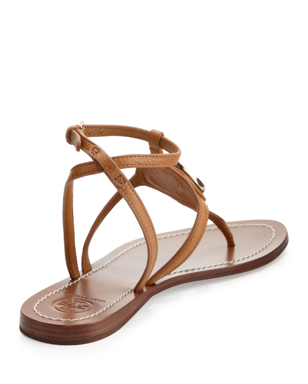 Gallery - Tory Burch Leticia Logo Thong Sandal Tan In Brown Lyst