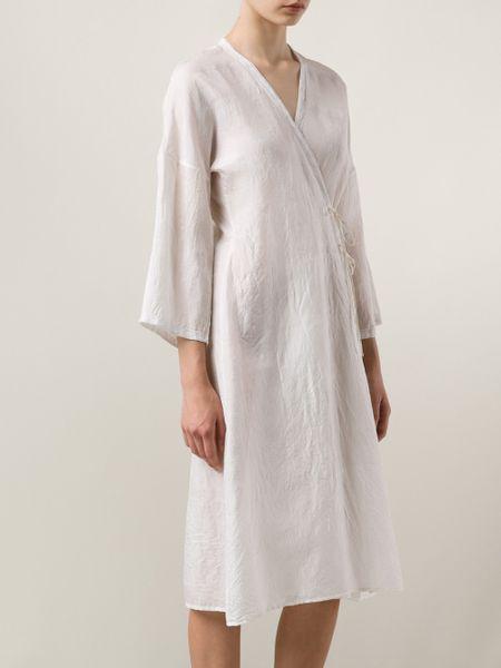 Dosa Wrap Dress In White Lyst